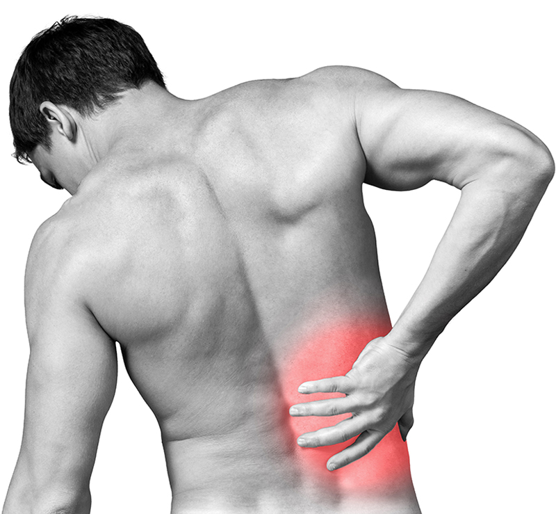 Car crash back pain